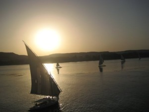 Falucca sail on the Nile