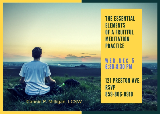 The Essential Elements Of A Fruitful Meditation Practice